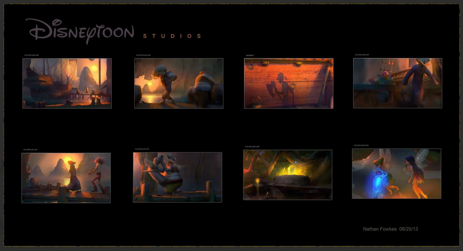 Nathan Fowkes Art: Sequence Color Script