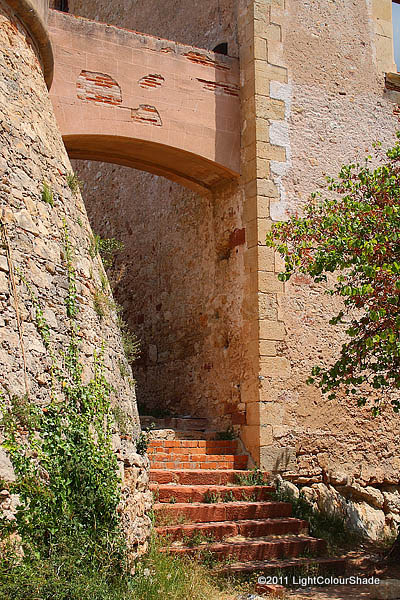 Stairs in an old fortress
