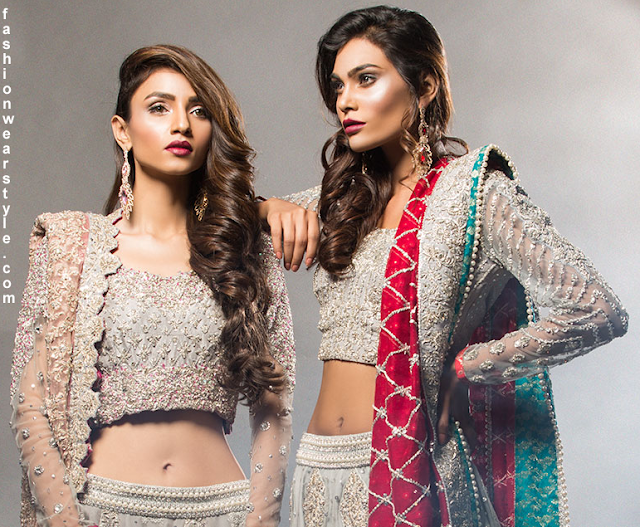 Zainab Chottani Glamorous Embroidered Bride's Dress 2016-17 www.fashionwearstyle.com