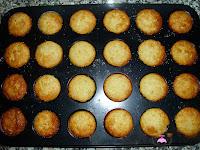 Mini magdalenas de limón horneadas