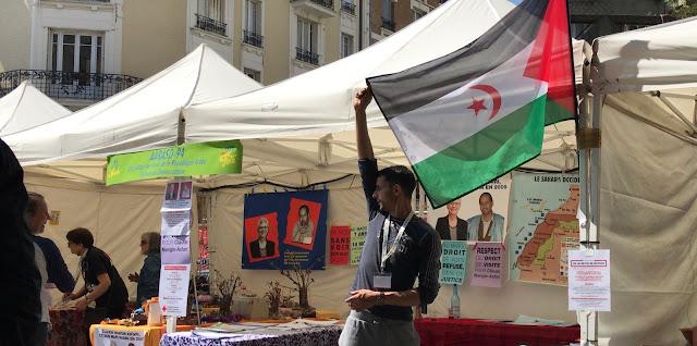 """حضور لافت للقضية الصحراوية في لإحتفالات المخلدة """"لعيد المدينة"""" ببلدية إيڤري سور سين."""