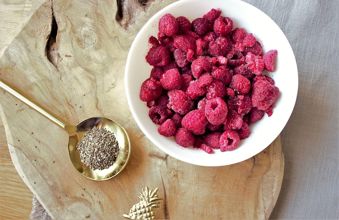 Сладко от малини и семена чия, рецепта, необходими продукти