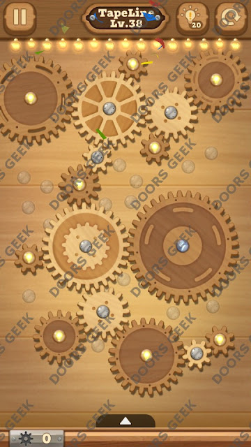 Fix it: Gear Puzzle [TapeLine] Level 38 Solution, Cheats, Walkthrough for Android, iPhone, iPad and iPod