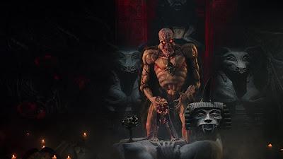 la démon Sutekh dans PUPPET MASTER 5, film fantastique réalisé par Jeff Burr