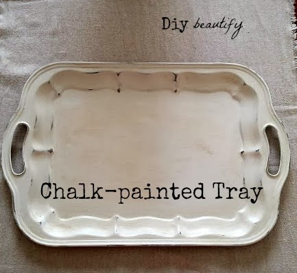How To Antique A Tray Using Chalk Paint Diy Beautify Creating