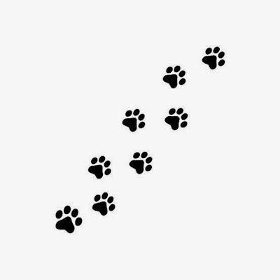 tatuaje de huellas de perrito