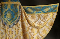 Marian Blue, Gold and White Vestments from Benedicamus