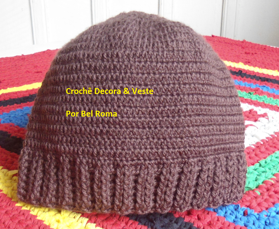 Crochê Decora   Veste  Gorro Masculino com Gráfico  1 ff7c86f2ce7