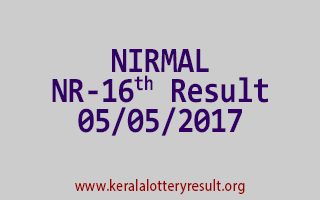 NIRMAL Lottery NR 16 Results 5-5-2017