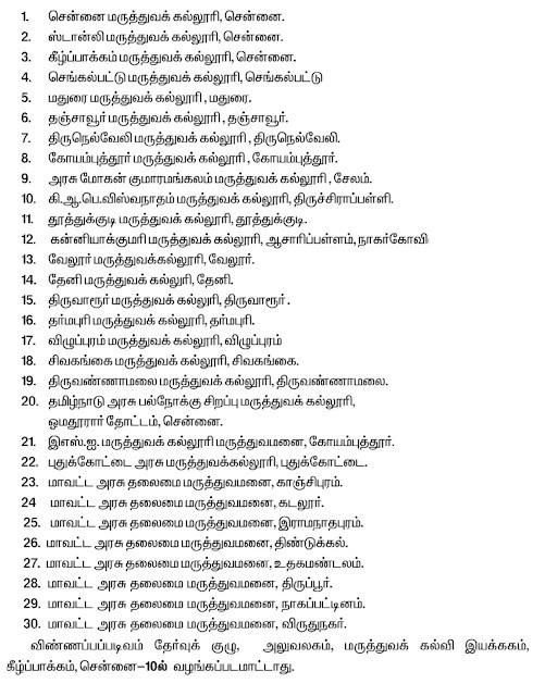 tamilnadu nursing admission
