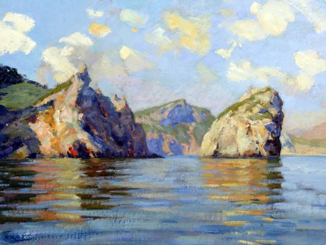 Vicente Herrero Catala, Acantilados de Mallorca, Mallorca en Pintura, Mallorca pintada, Paisajes de Mallorca