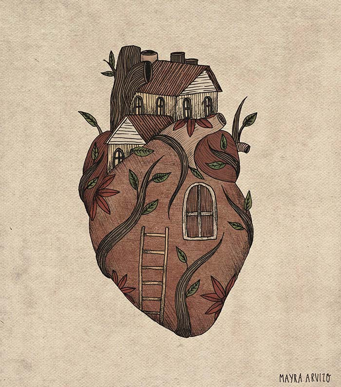 Ilustración, Home de Mayra Arvizo