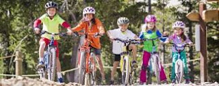 Mammoth Bike Park fun for all ages. Bike rentals available.