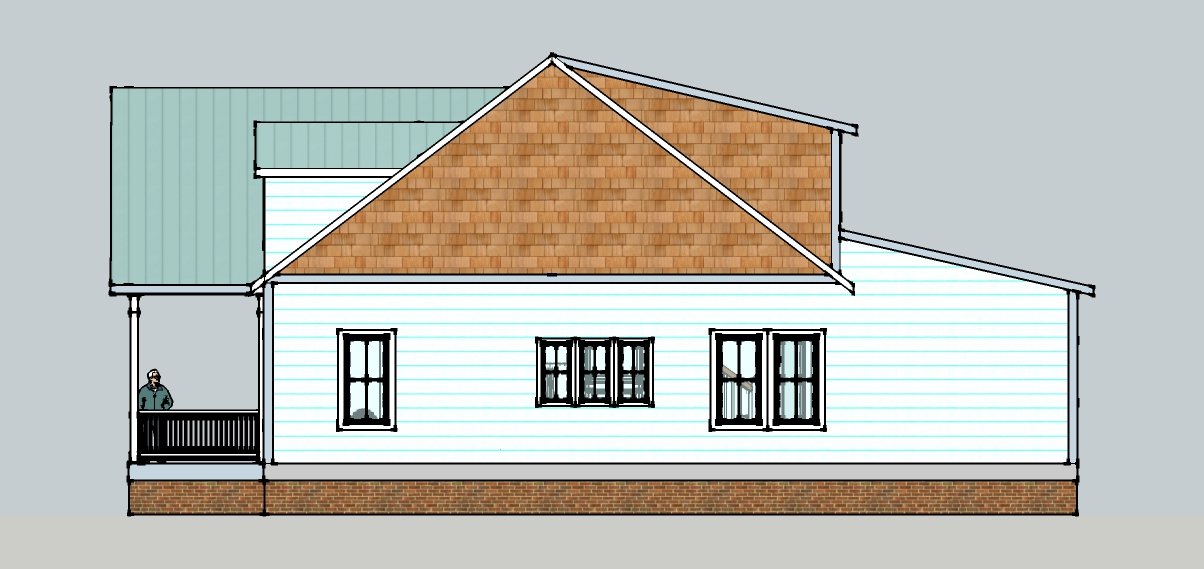 Restoring the roost sketch up 3d model of the new house for Dining room elevation