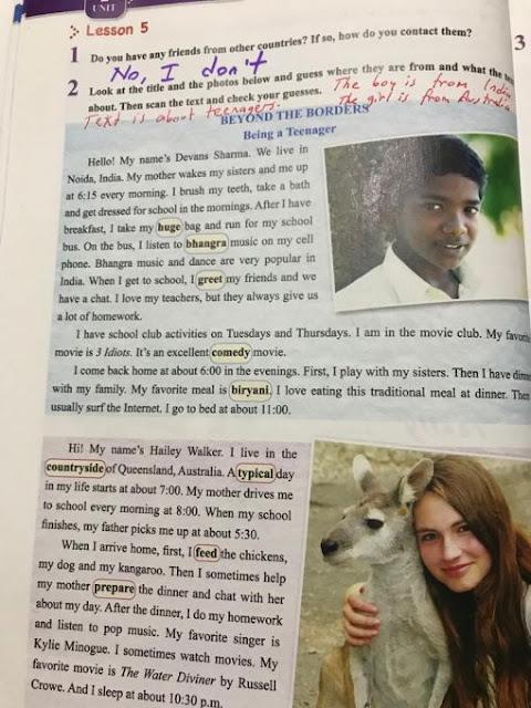 8. Sınıf Tutku Yayınları İngilizce 30. Sayfa Cevapları Ünite 2 Teen Life