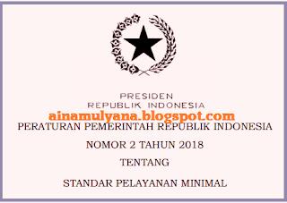 dibuat dalam rangka melakukan ketentuan Pasal  TERLENGKAP PERATURAN PEMERINTAH  (PP) NOMOR 2 TAHUN 2018 TENTANG SPM (STANDAR  PELAYANAN MINIMAL)