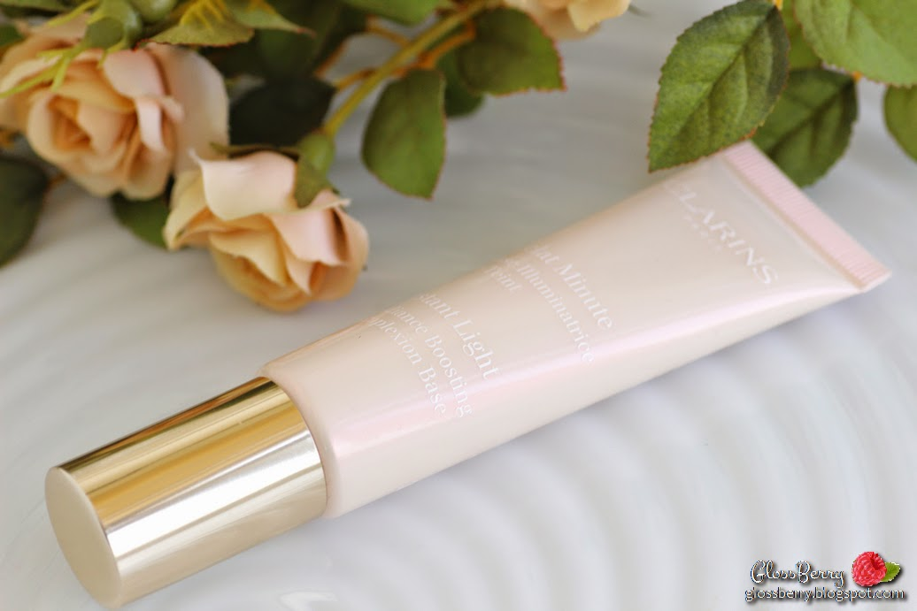 clarins instant light radiance boosting primer base dry sensitive skin 01 pink rose review swatches בסיס קלרינס קלארינס לעור יבש ורוד  פריימר