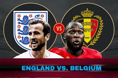 Live Streaming England vs Belgium Piala Dunia 29.6.2018