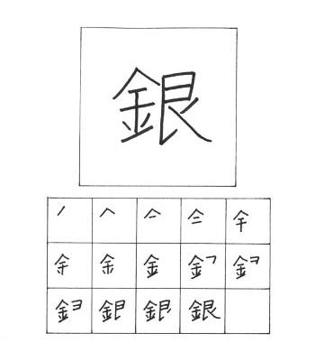 kanji perak