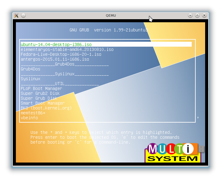 Create Multiboot OS USB with Multisystem in Linux