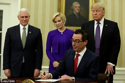 Steve Mnuchin, Donald Trump, United States Secretary of the Treasury, Foreign, Louise Linton