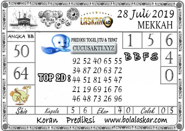 Prediksi Togel MEKKAH LASKAR4D 28 JULI 2019