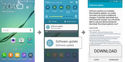 Cara upgrade sistem operasi android pada samsung J3