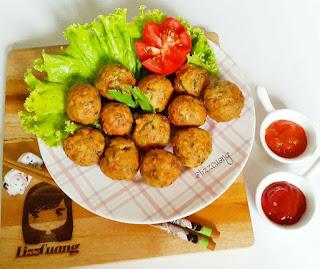 Ide Resep Masak Bakso Tempe Udang (Tempeh shrimp ball)