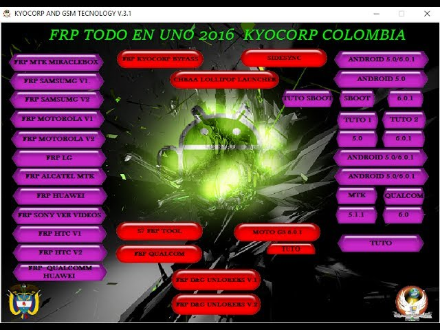 Frp Tool Pack 2017 | FRP KYOCORP 2017 V3.1 Samsung Frp Unlock Tool Free Download