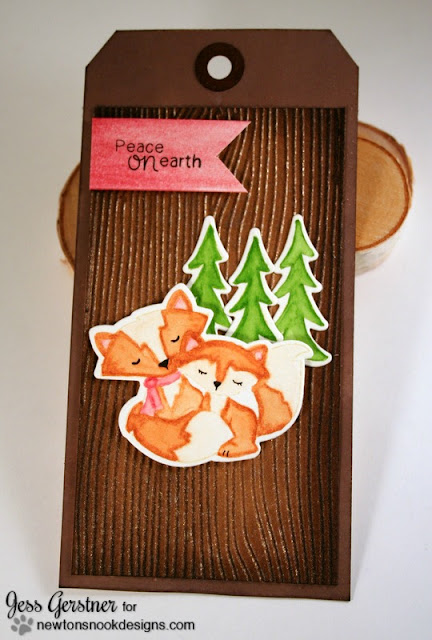 Christmas Tag by Jess Gerstner featuring Newton's Nook Designs Fox Hollow