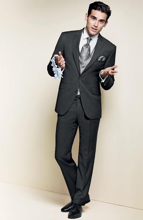 91c1b23a8813 Совсем не скучная классика – серо-черный костюм от Digel «Alek 99839».  Классический серый костюм может показаться скучным лишь дилетанту в  вопросах моды.