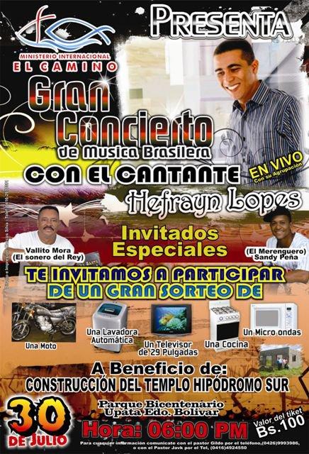 GRANDE EVENTO EVANGELÍSTICO NA CIDADE DE UPATA - VENEZUELA, 3/09/2011
