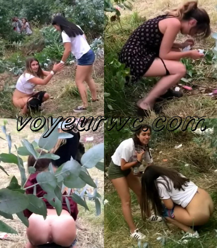 Girls Gotta Go 67 (Drunk Spanish Girls Outdoor Voyeur Pissing)
