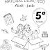 MATERIAL DIDÁCTICO (Abril- Junio) 5° PRIMARIA CICLO ESCOLAR 2018-2019.