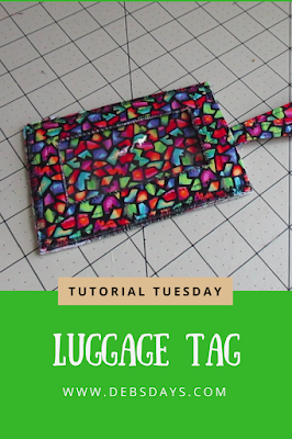 Homemade Fabric Luggage Tag with Vinyl See Through Window Sewing Project