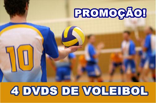Promoção - Kit 4 dvds de Voleibol