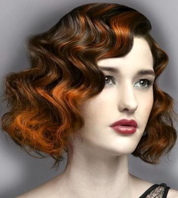 Model rambut perempuan finger wave