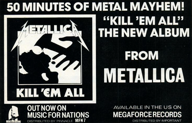 """Metallica - """"Kill 'Em All"""" - reklama"""