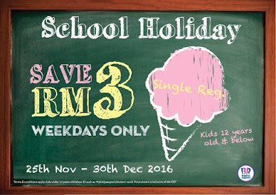 Baskin-Robbins Malaysia School Holiday Discount Promo