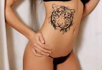тату девушка тигр