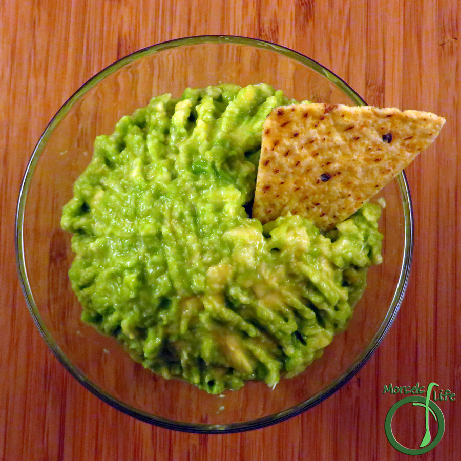 Morsels of Life - Guacamole Dip - A quick and easy guacamole dip with all of three ingredients!