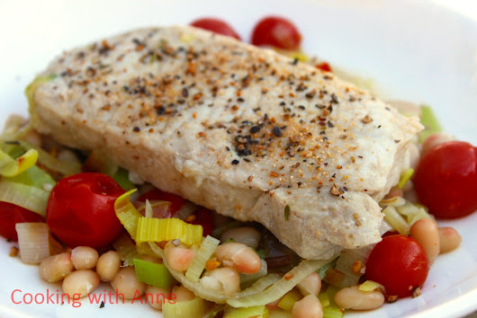 Pork with White Beans and Cherry Tomatoes