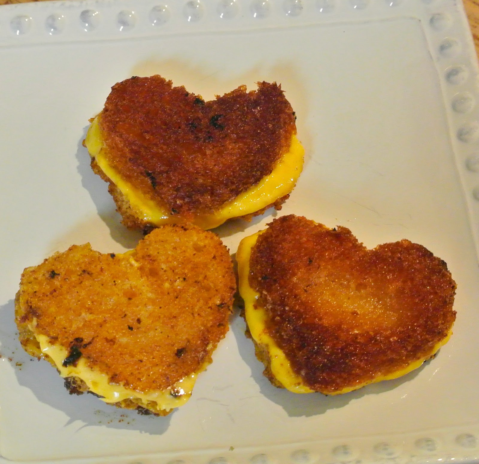 Grilled Cheese, Heart Sandwich