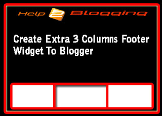Create Extra Three Columns Footer Widget To Blogger