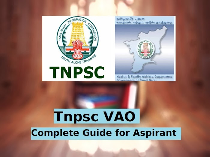 TNPSC VAO [ ENGLISH ONLY ] NOTIFICATION, SYLLABUS, ELIGIBILITY,PREVIOUSYEAR QUESTION PAPER, RESULT AND STUDY MATERIAL