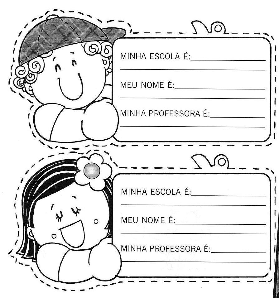 Crachas Educacao Infantil Modelos Atividades Pedagogicas