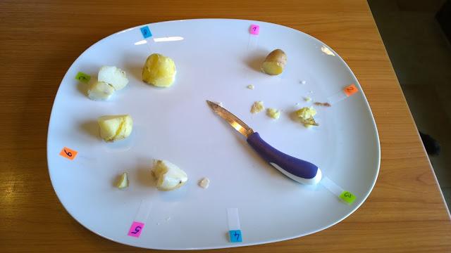 die Test-Kartoffelsorten aufgegessen (c) by Joachim Wenk