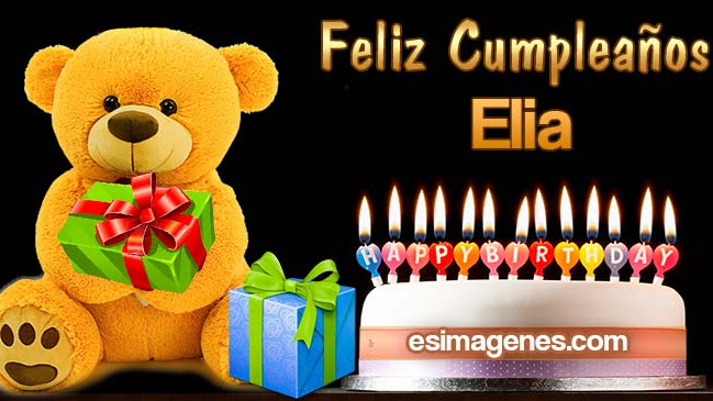 Feliz Cumpleaños Elia