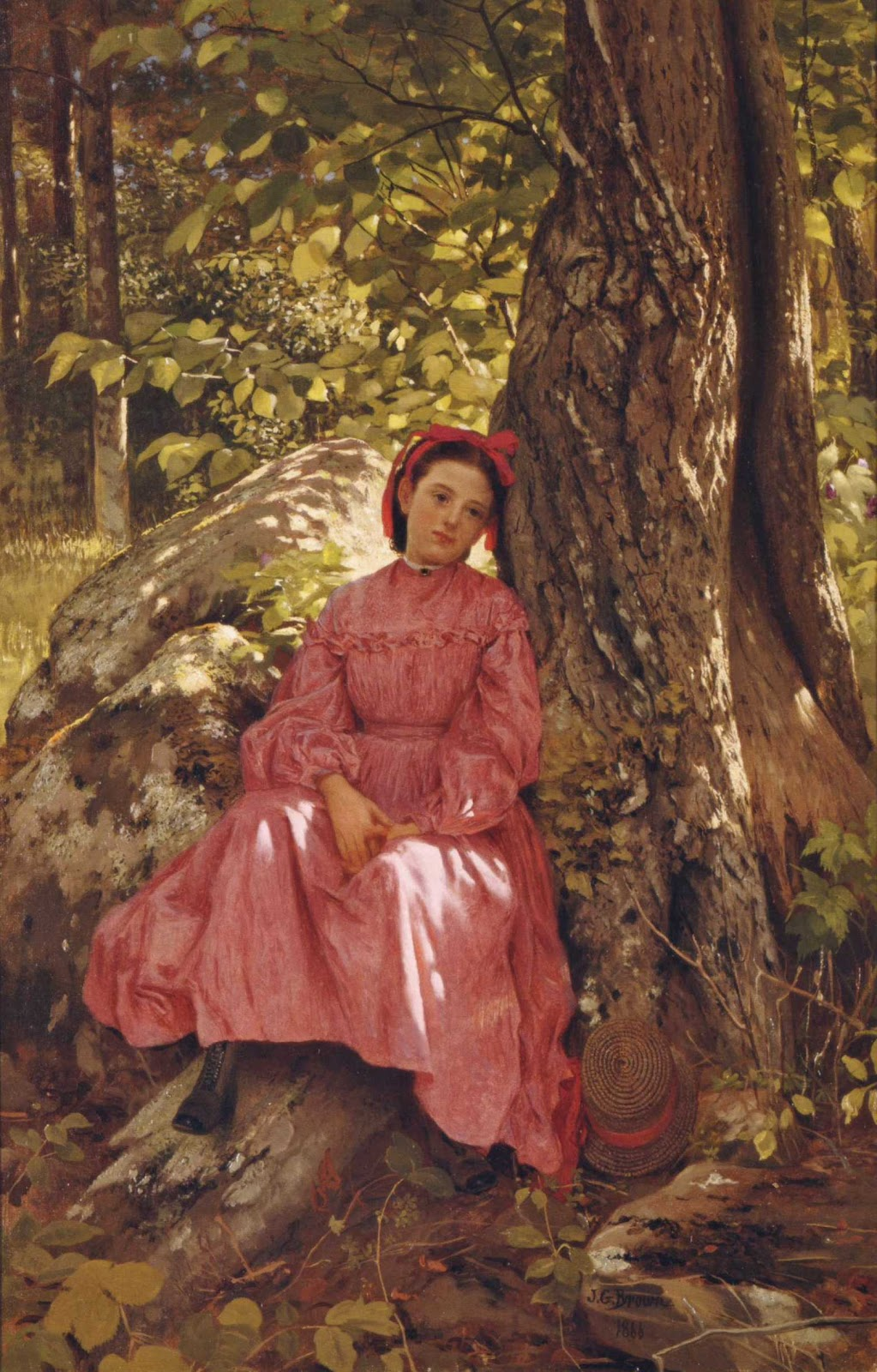 The Woods Wood Be Quiet If No Birds Sang Except The Best: 19th Century American Paintings: John George Brown, Ctd