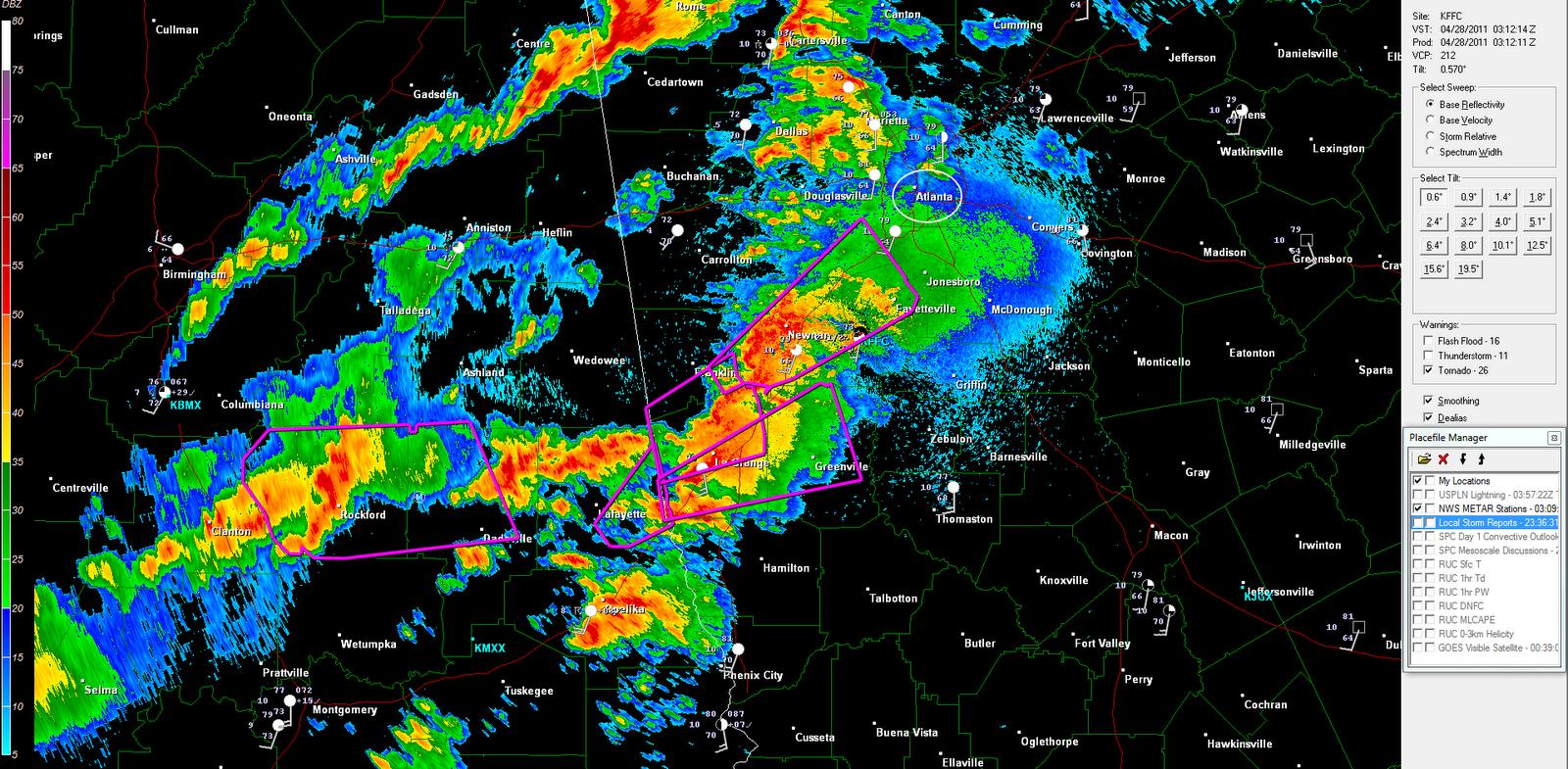 the original weather blog severe weather update atlanta area